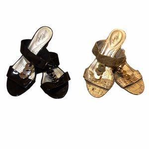 Dexflex Comfort embellished wedge sandals